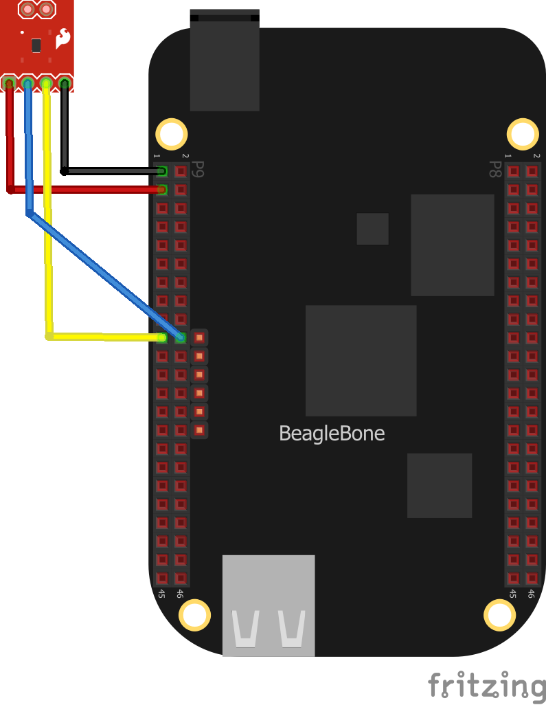 beaglebone and TMP102 layout
